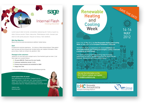 E-mailings voorbeelden - Sage - Renewable heating and cooking week